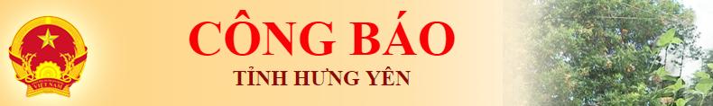 Công báo tỉnh Hưng Yên